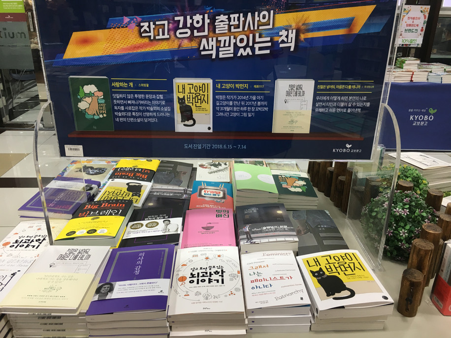 Our Book highlighted in bookstore.