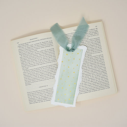 Green Starry Nights Bookmark
