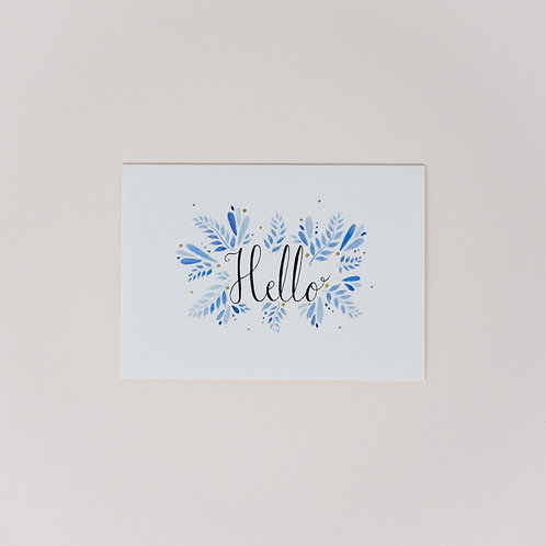 Hello Notecards, Pack of 4