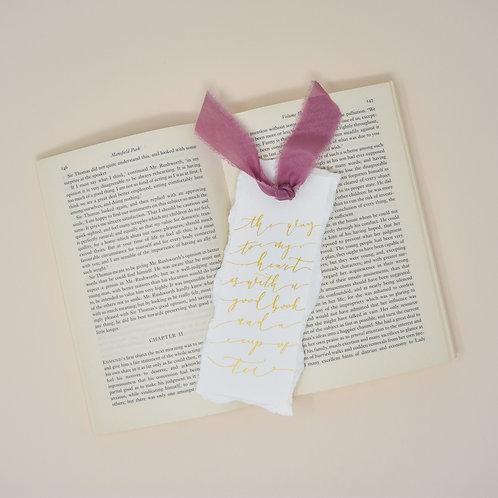 Gold Lettered Bookmark