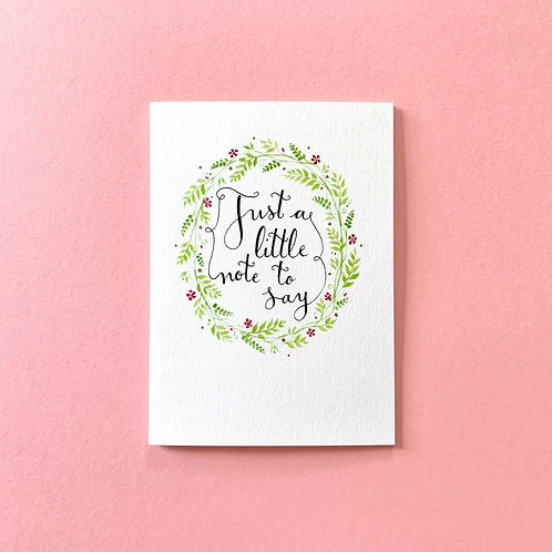 Little Note to Say Notecards, Pack of 4