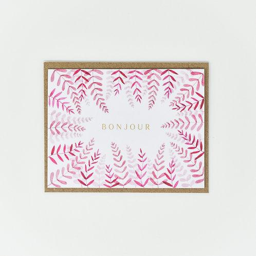 Bonjour Leafy Notecards
