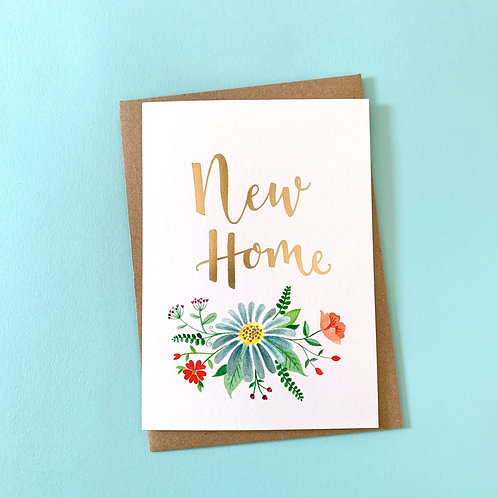 Floral New Home Card