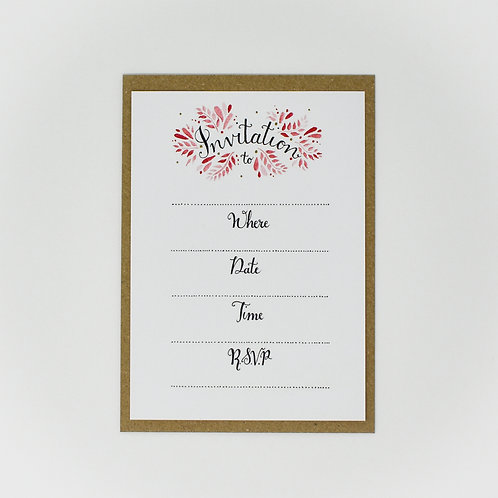 General Invitations, Pack of 6