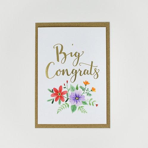 Floral Big Congrats Card