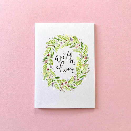 With Love Notecards, Pack of 4