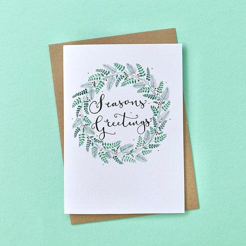 Seasons Greetings Card, Pack of 4