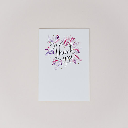 Thank You Notecards, Pack of 4