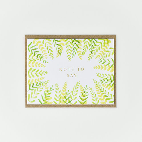 Note To Say Leafy Notecards