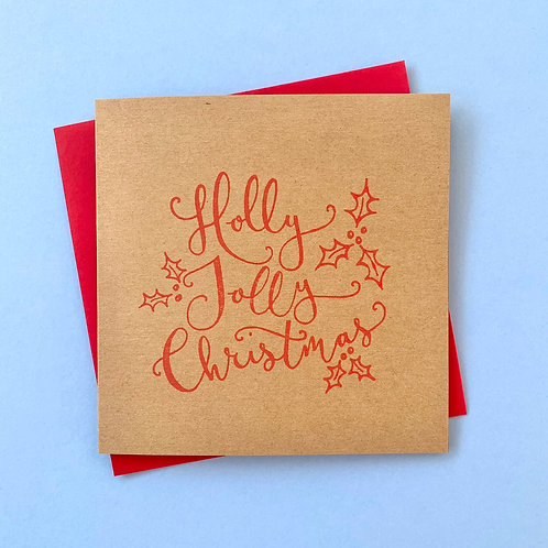 Holly Jolly Card, Pack of 4