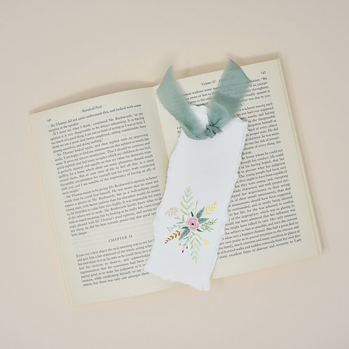 Green Floral Bookmark
