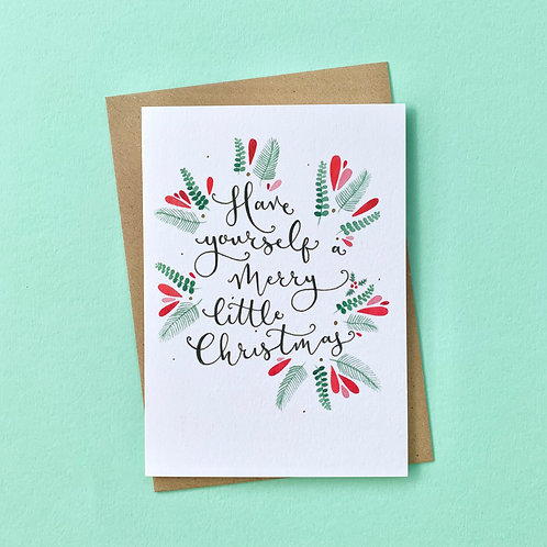 Merry Little Christmas Card, Pack of 4