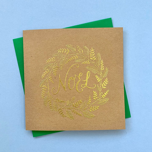 Embossed Noel Card, Pack of 4