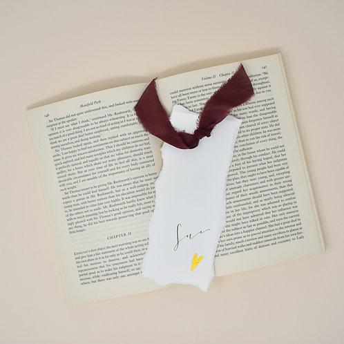 Gold Heart Bookmark