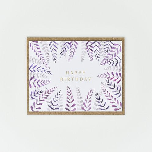 Happy Birthday Leafy Notecards