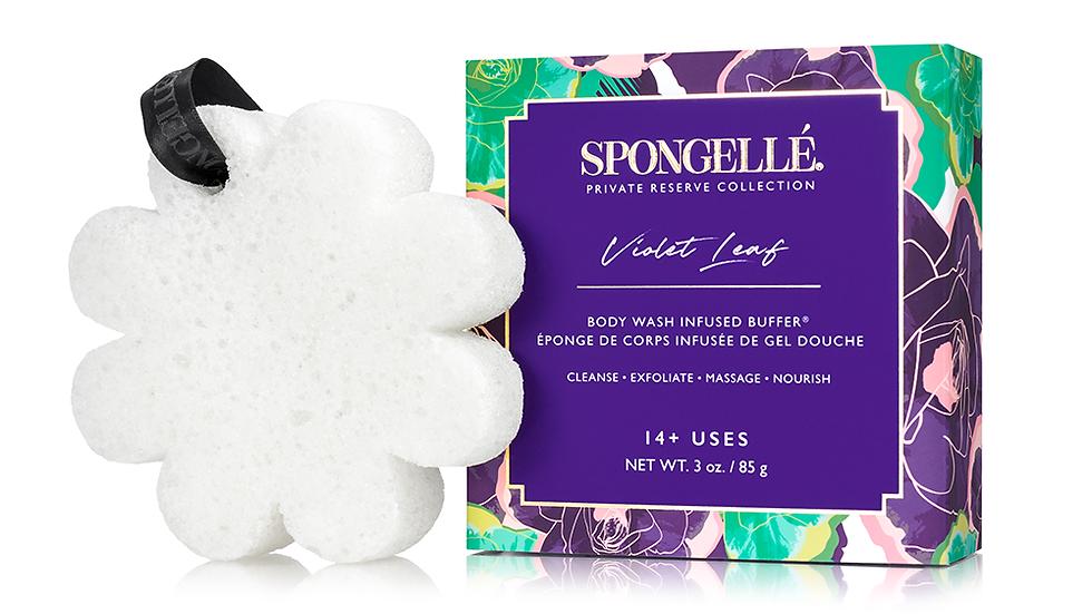Spongelle Violet Leaf