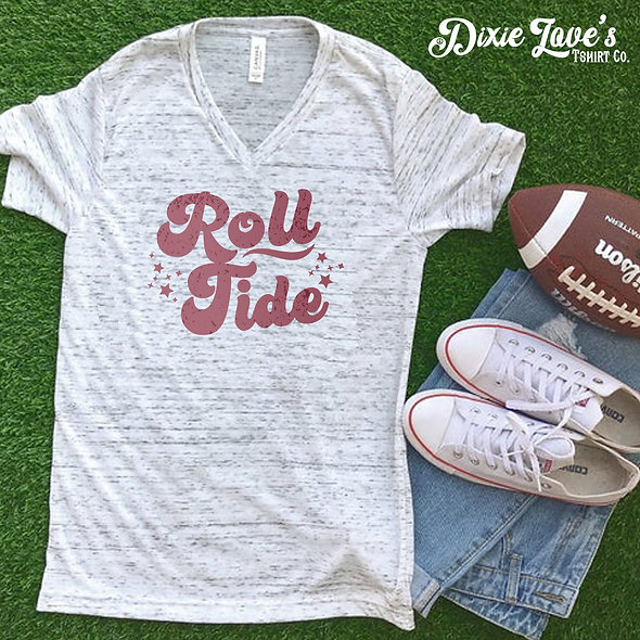 Roll Tide Retro V-neck Shirt