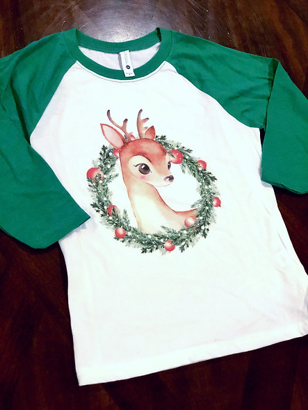 Reindeer Wreath (kids shirt)