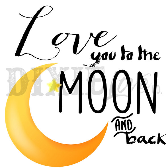 Love You To The Moon 3x3 Printable