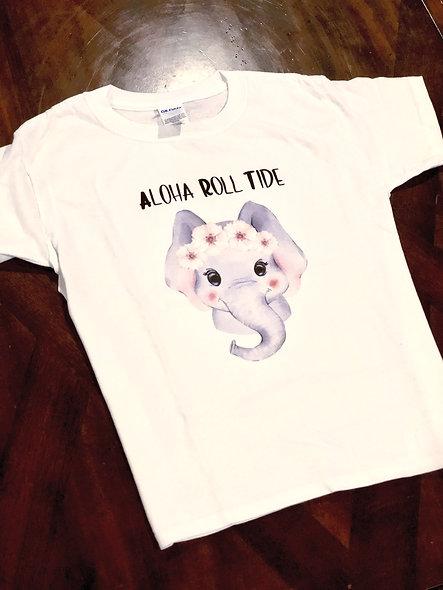 Aloha Roll Tide (girl shirt or unisex)