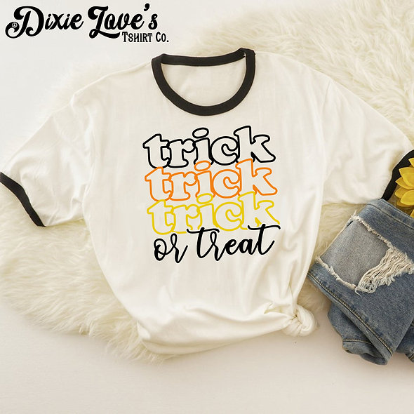 Hippie Trick or Treat Ringer Shirt