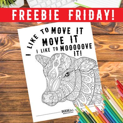 Move It Coloring Sheet