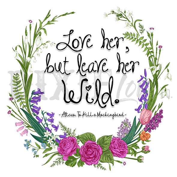 Leave Her Wild 8x8 Printable