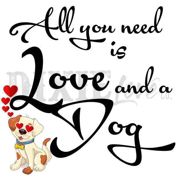 Love And A Dog 3x3 Printable