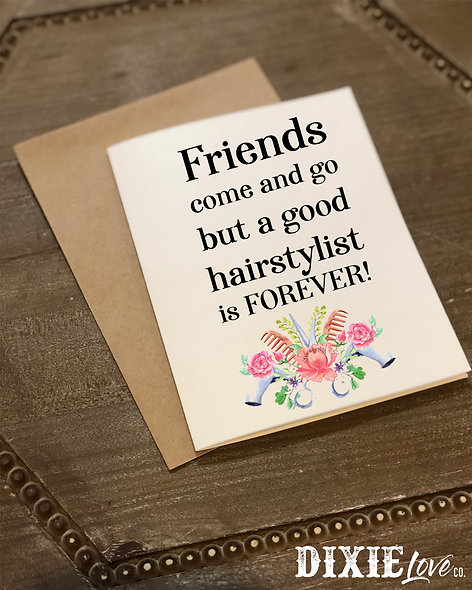 Thank a Hairstylist Card