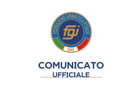 Comunicato ufficiale della Federazione Ginnastica d'Italia rivolto alle società affiliate