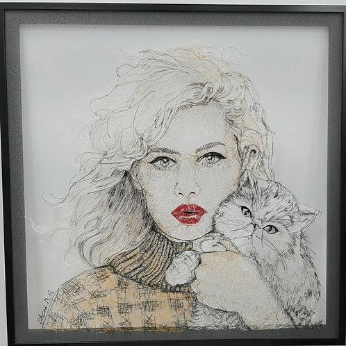 נערה עם חתול - שני בלומנפלד ארואטי