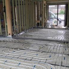 Plaatsen vloerverwarming houtskeletbouw Erpe-Mere