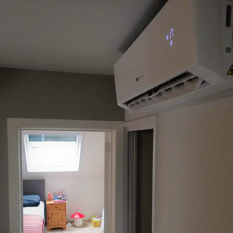 Installatie airco hal Gent
