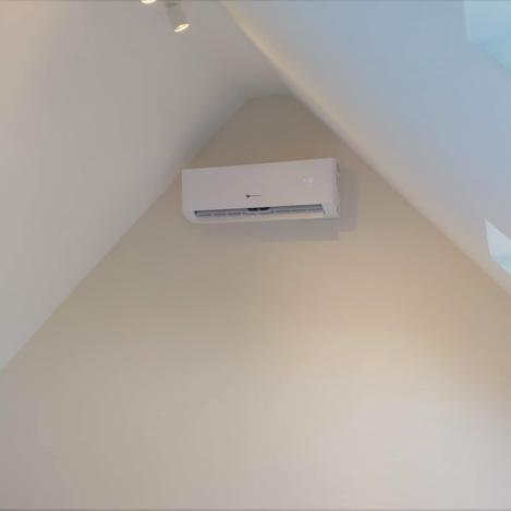 Installatie airco dakkamer Vlierzele