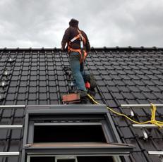 Plaatsing zonnepanelen hellend dak