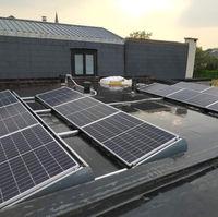 Plaatsen zonnepanelen op plat dak Erpe-mere