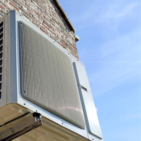 Plaatsing airco buitenunit in gevelophanging