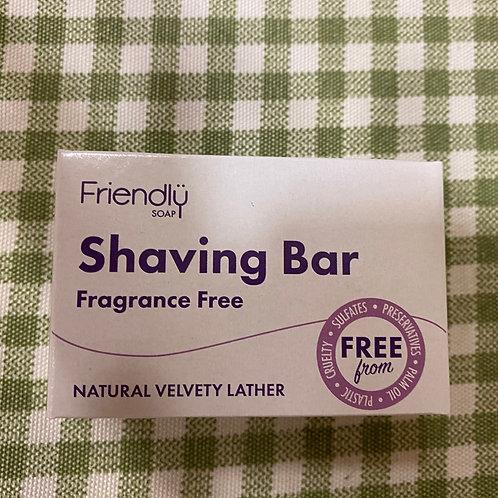 Fragrance free shaving bar