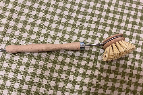 Wooden dish brush & replaceable head