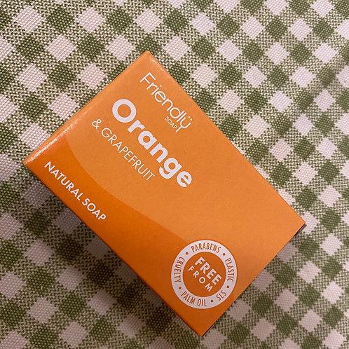 Orange & grapefruit natural soap