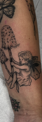 Illustrative Black and Grey Fairy