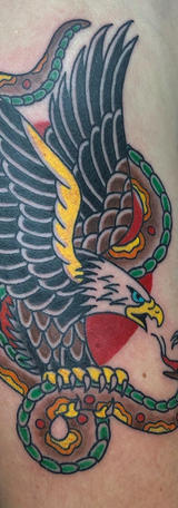 American Traditional Eagle & Snake