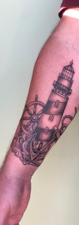 Black and Grey Lighthouse