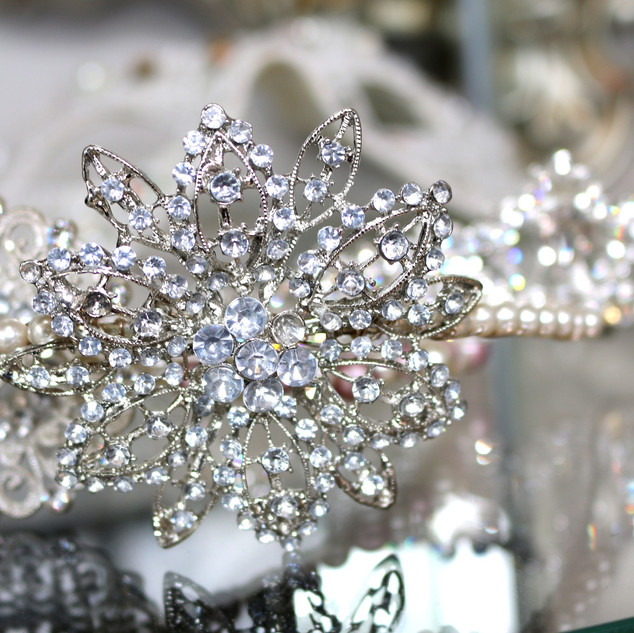 Beautiful tiara at Wedding Dresses of Manchester