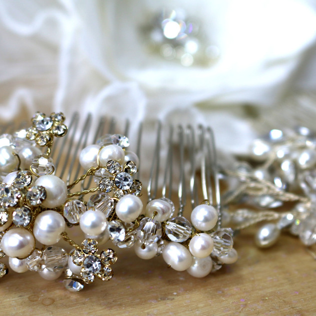 Diamante Veil Hair Clip at Wedding Dresses of Manchester