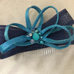 Navy and turquoise fascinator