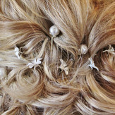 Bride hairstyle pinned