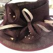 Chocolate brown and beige hat