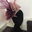 Purple and mauve fascinator