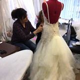 Wedding dress fitting at Wedding Dresses of Manchester